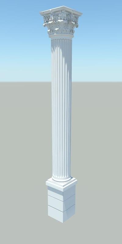 3d model of corinthian pillar