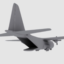C-130 Hercules US Army Transport Aircraft Game Model