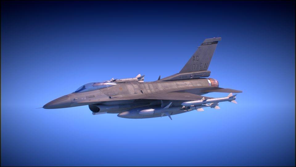 f16 pilot jet 3d model