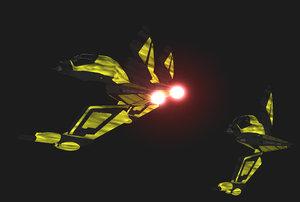 3d starship spaceship