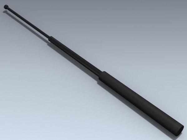 3d model expandable baton