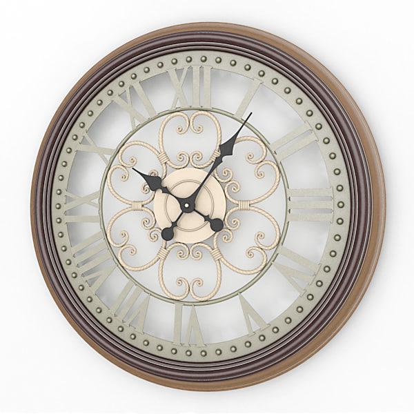 3d analog decorative wall clock model