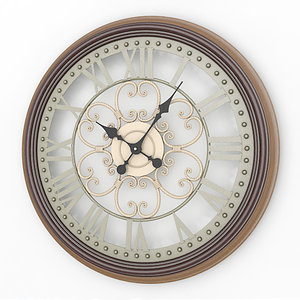 3d analog decorative wall clock model