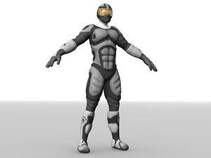 soldier fighter alien 3d fbx