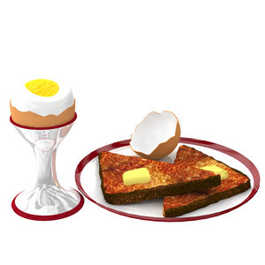 3 min egg 3d model