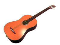 3d classical acoustic guitar model