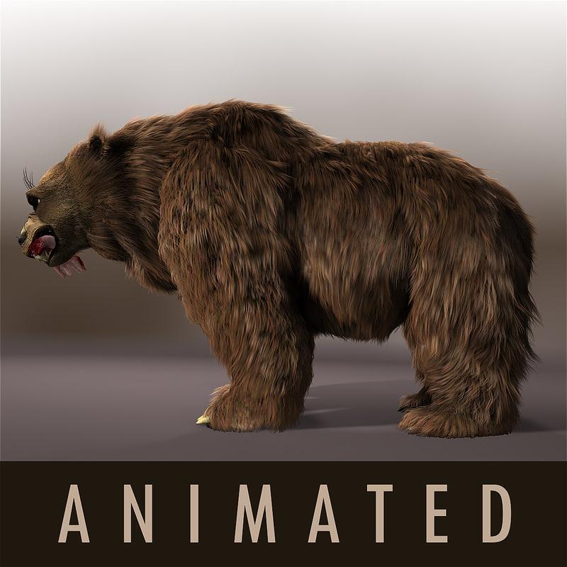 3d model angry bear