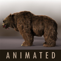 3d model angry bear