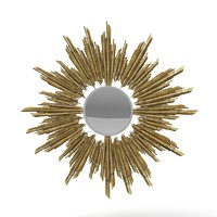 ChrisTopher Guy 50-2868 Art deco Round Sun Ray Mirror
