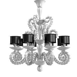 murano glass chandelier 3d model