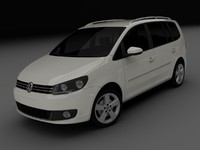 volkswagen touran 2011 3d model