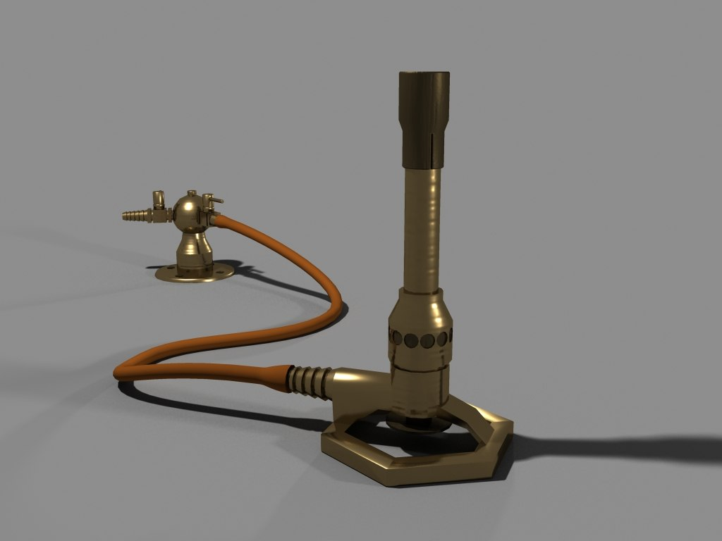 busen burner A bunsen burner is one of the most common pieces of equipment in the laboratory it is a special burner that uses flammable gases and works similarly to a gas stove.