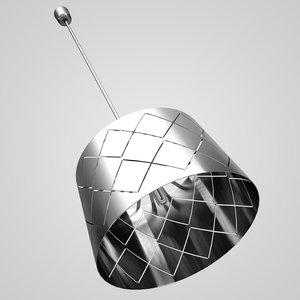 chrome hanging lamp 04 3d model