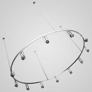 3d model halogen lamp set 16