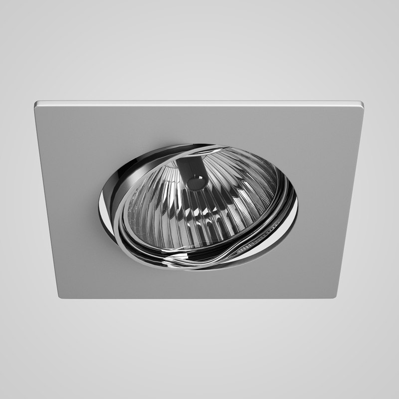 single ceiling halogen light 3d model