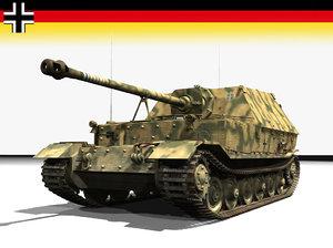 3d model armor tank destroyer