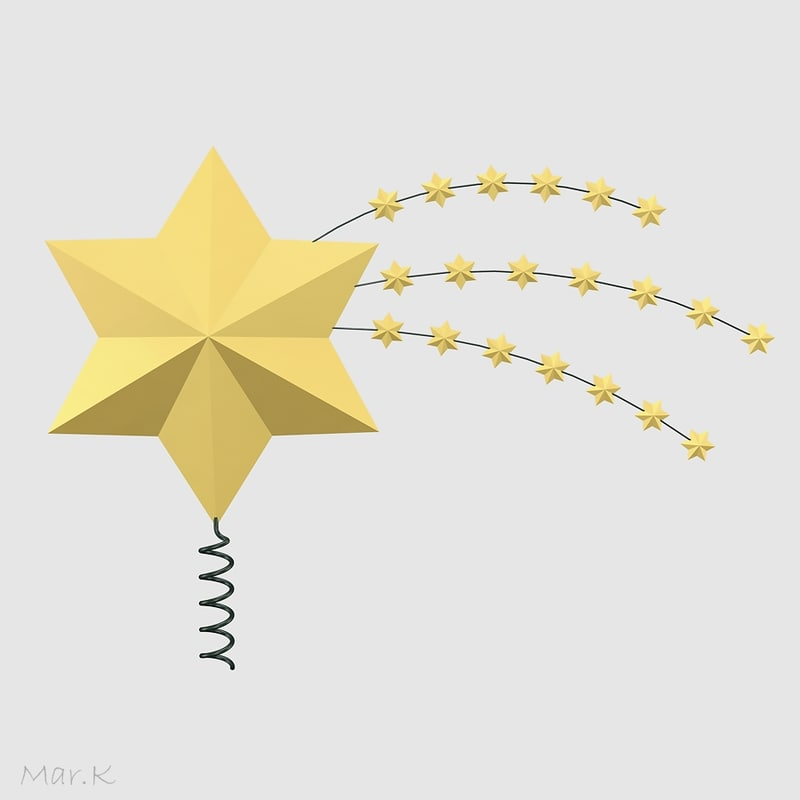 3d christmas decoration star