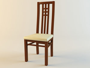 chair classical kitchen 3d model