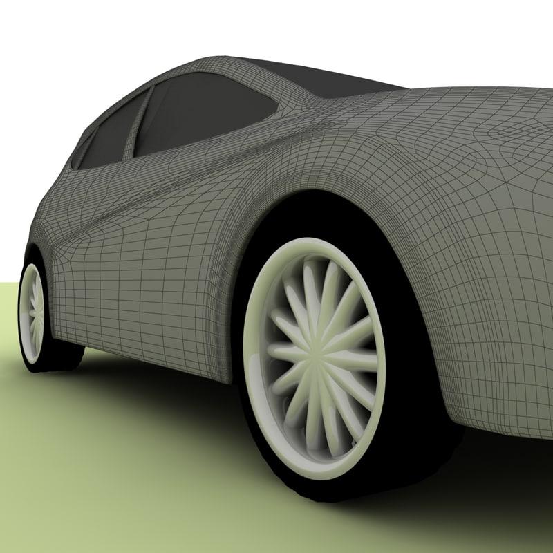 leon seat 2008 3d model