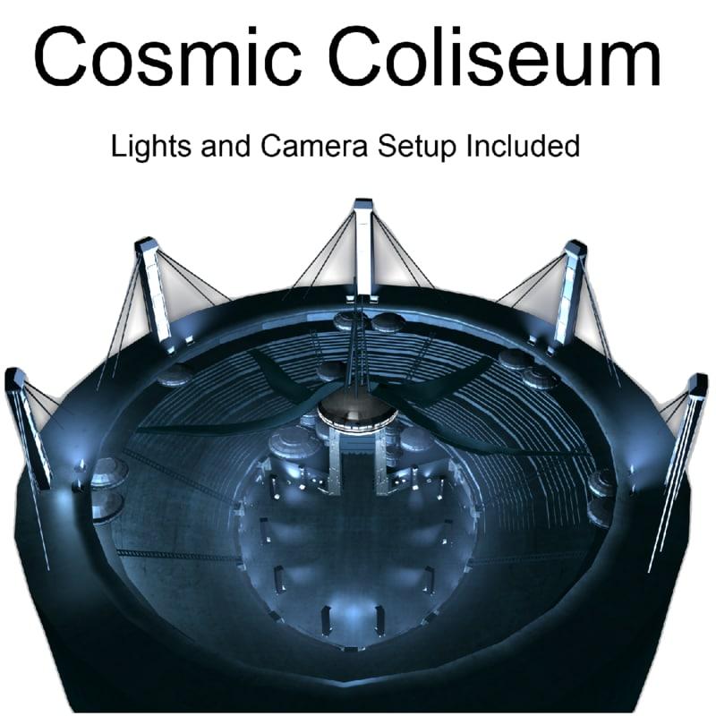 coliseum cosmic 3d max