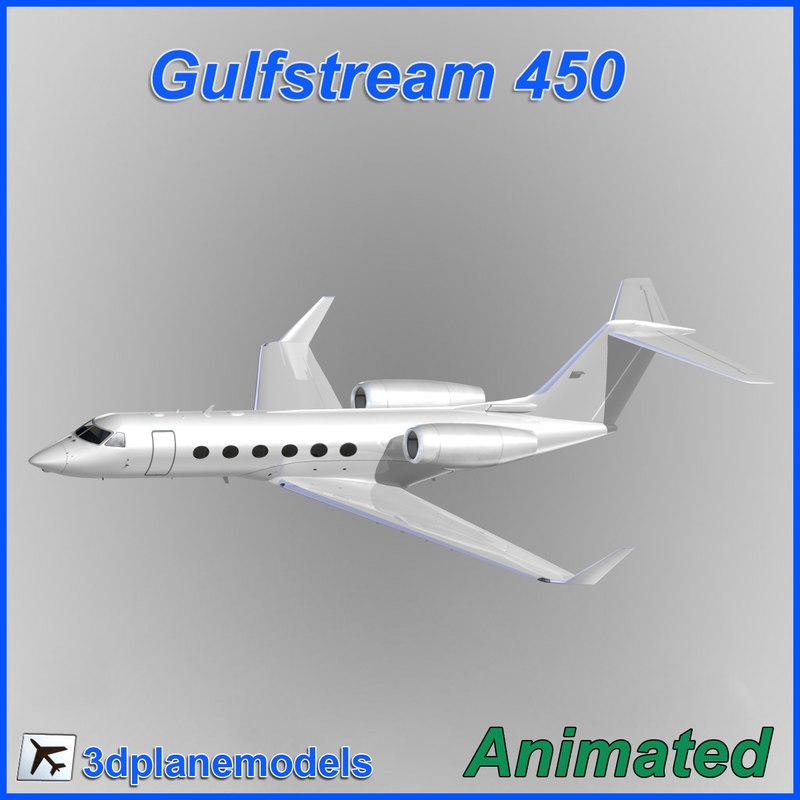 3ds max gulfstream g450