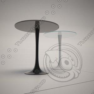 3d model of cattelan italia hugo table