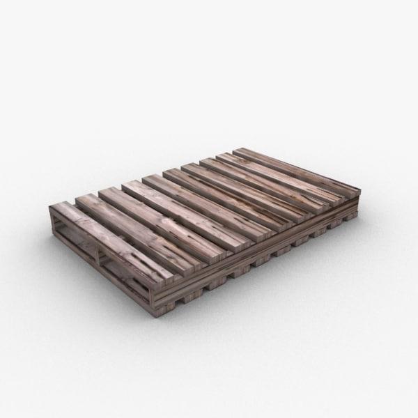wooden pallet 3d max