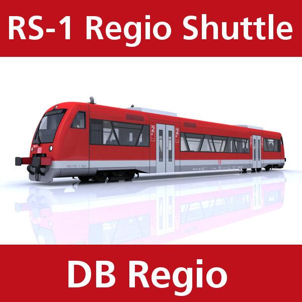 3d 3ds rs-1 regio shuttle passenger train