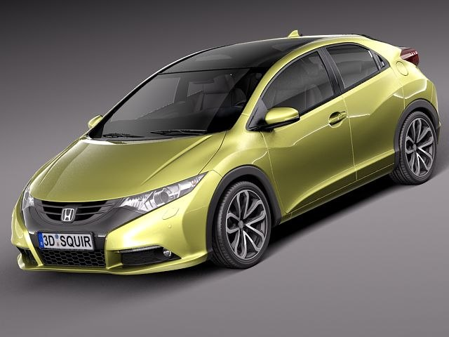honda civic 2012 eu 3d model