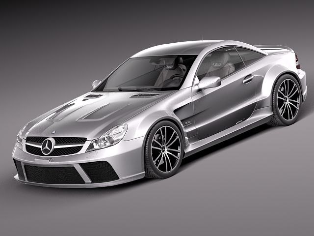 3ds max mercedes amg black sl
