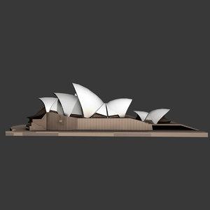 3d model of sydney opera