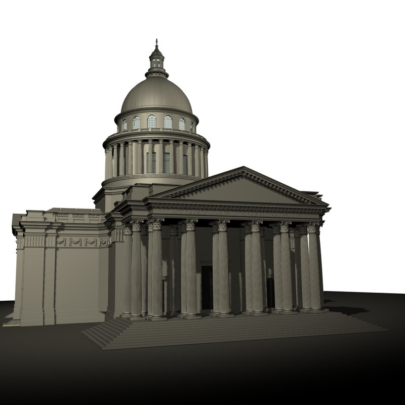 3d model pantheon paris