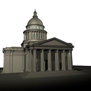 3d model pantheon paris