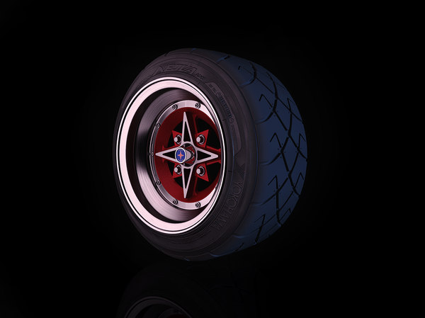 3d model vintage rim techno phantom