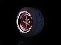 Techno Phantom rim stretched tyre Yokohama A032