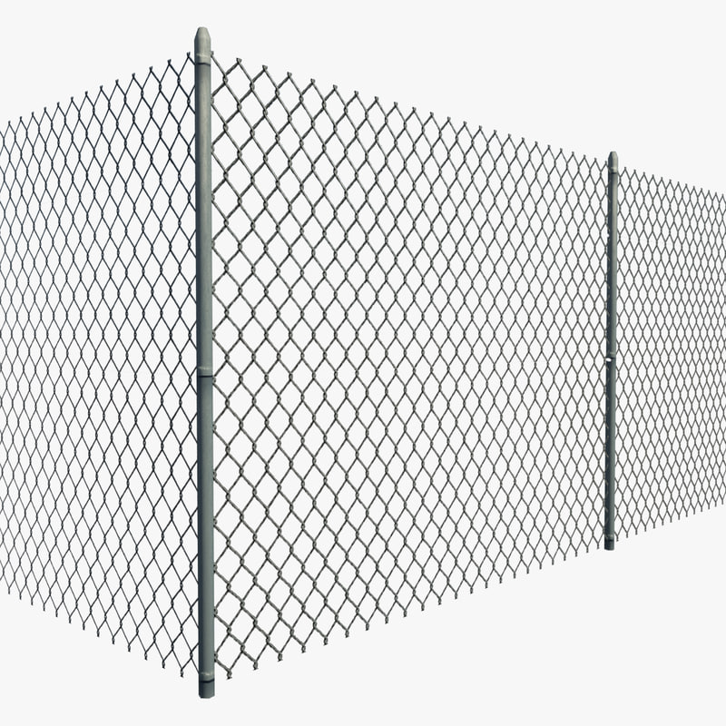 Resolution chain link fence 3d model for 3d fence