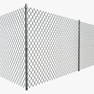 resolution chain link fence 3d model