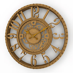3dsmax analog decorative wall clock