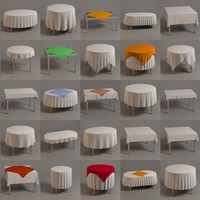 3ds max tables tableclothes