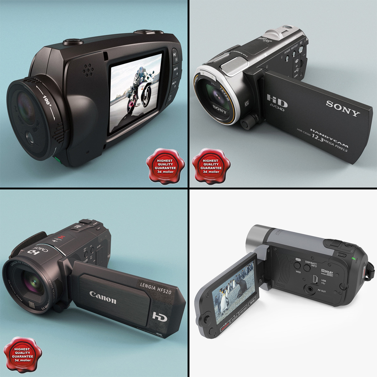 camcorders v4 3d 3ds