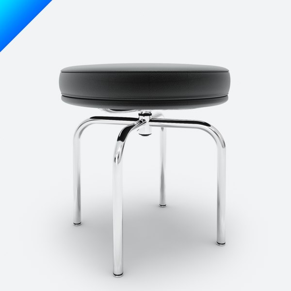 3d lc8 swivel stool model