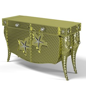 3d max colombostyle credenza design