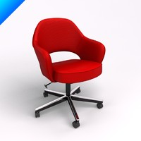 saarinen executive conference chair 3d model