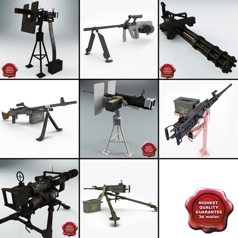 machine guns v3 3d model