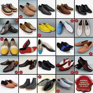 3d model men shoes v11