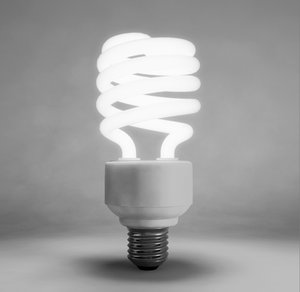 compact lamp light bulb 3d obj