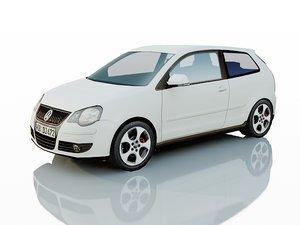 volkswagen polo gti 3d model