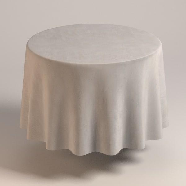 3d model table cloth tablecloth