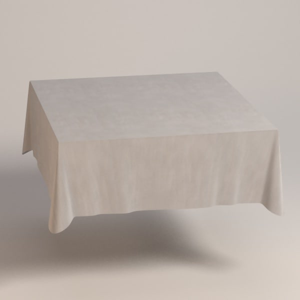 3dsmax square tablecloth