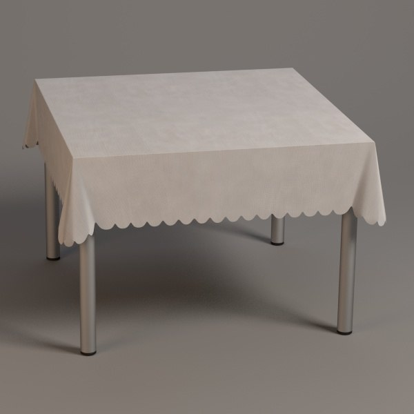3d square table model